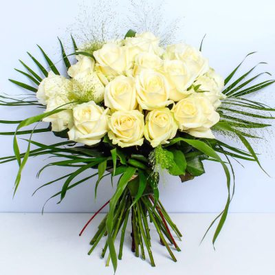 Luxury Two Dozen White Roses